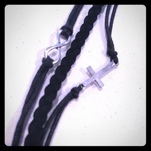 Jewelry - Infinity and Cross Bracelet with Lobster Clasp